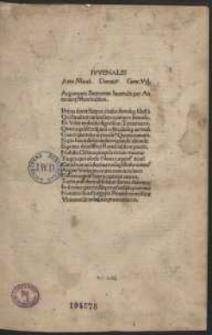 Satirae / cum commentis Antonii Mancinelli, Domitii Calderini, Georgii Vallae