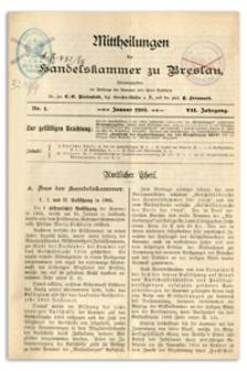 Mitteilungen der Handelskammer zu Breslau, 1905, Nr 1-12