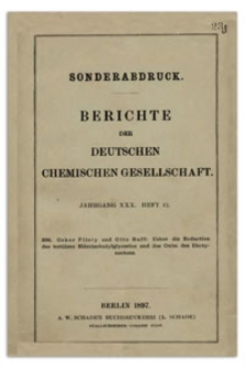 Ueber die Reduction des tertiären Nitroisobutylglycerins und das Oxim des Dioxyacetons, Berichte der Deutschen Chemischen Gesellschaft, 1897, Jahrgang XXX, Heft 12, s. 1656-1665