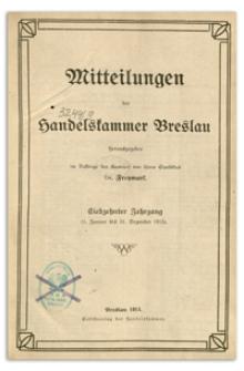 Mitteilungen der Handelskammer zu Breslau, 1915, Nr 1-12