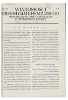 Wiadomości Przemysłu Chemicznego : Organ Związku Przemysłu Chemicznego Rzeczypospolitej Polskiej. R. IV, 15 grudnia 1929, nr 24