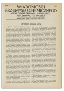Wiadomości Przemysłu Chemicznego : Organ Związku Przemysłu Chemicznego Rzeczypospolitej Polskiej. R. XI, czerwiec 1936, nr 11 bis