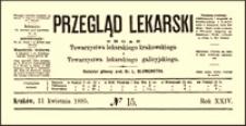 O laparotomii w przypadkach przedziurawienia żołądka i jelita : wykład wypowiedziany na Zjeździe przyrodników w Magdeburgu przez prof. Mikulicza, Przegląd Lekarski, 1885, R. 24, nr 15, s. 208-211