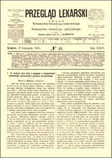 O resekcyi wola wraz z uwagami o następstwach całkowitego wyłuszczenia gruczołu tarczykowego, Przegląd Lekarski, 1885, R. 24, nr 48, s. 609-610