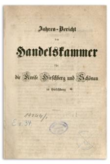 Jahres-Bericht der Handelskammer für die Kreise Hirschberg und Schönau zu Hirschberg pro 1854