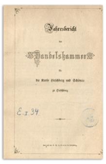 Jahres-Bericht der Handelskammer für die Kreise Hirschberg und Schönau zu Hirschberg für das Jahr 1860