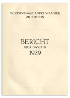 Bericht über das Jahr 1929