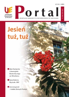 Portal: kwartalnik Uniwersytetu Ekonomicznego we Wrocławiu, 2009, Nr 2/3 (4)