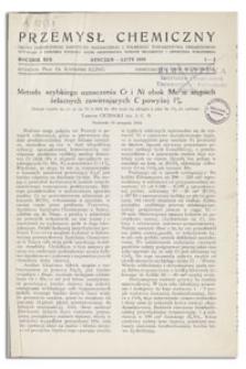Przemysł Chemiczny : Organ Chemicznego Instytutu Badawczego i Polskiego Towarzystwa Chemicznego. R. XIX, maj 1935, nr 5