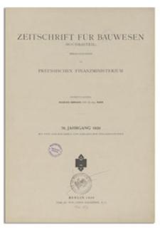 Zeitschrift für Bauwesen, Jr. 76, 1926, H. 1-3