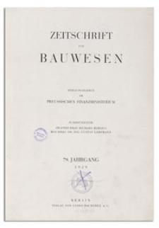 Zeitschrift für Bauwesen, Jr. 79, 1929, H. 9