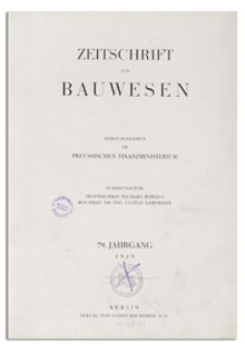 Zeitschrift für Bauwesen, Jr. 79, 1929, H. 12