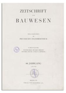 Zeitschrift für Bauwesen, Jr. 80, 1930, H. 4