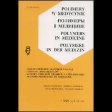 Polimery w Medycynie = Polymers in Medicine, 2013, T. 43, nr 1
