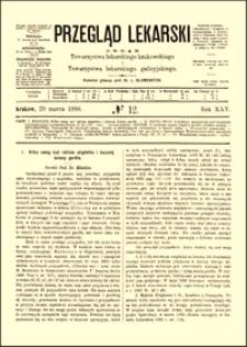 Kilka uwag nad rakiem migdałka i bocznej ściany gardła, Przegląd Lekarski, 1886, R. 25, nr 12, s. 173-174