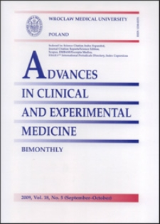 Advances in Clinical and Experimental Medicine, Vol. 18, 2009, nr 5