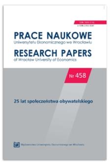 Spis treści [Prace Naukowe Uniwersytetu Ekonomicznego we Wrocławiu = Research Papers of Wrocław University of Economics, 2016, Nr 458]