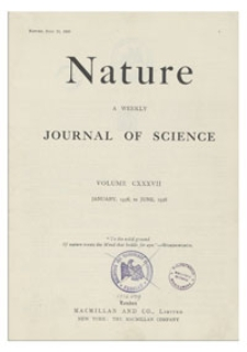 Nature : a Weekly Journal of Science. Volume 137, 1936 March 14, No. 3463