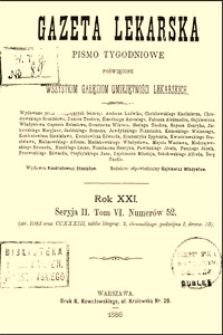 Przyczynek do operacyi wola ze szczególnem uwzględnieniem złych następstw całkowitego wyłuszczenia, Gazeta Lekarska, 1886, R. 21, nr 1, s. 5-15