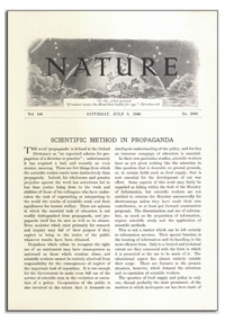 Nature : a Weekly Journal of Science. Volume 146, 1940 July 6, No. 3688