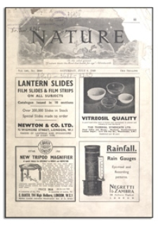 Nature : a Weekly Journal of Science. Volume 146, 1940 December 7, No. 3710