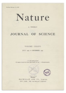 Nature : a Weekly Journal of Science. Volume 136, 1935 September 14, No. 3437