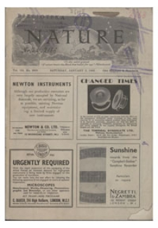 Nature : a Weekly Journal of Science. Volume 151, 1943 April 24, No. 3834