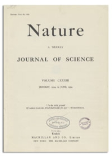 Nature : a Weekly Journal of Science. Volume 133, 1934 April 28, No. 3365