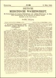 Die seitliche Pharyngotomie behufs Exstirpation maligner Geschwülste der Tonsillargegend, Deutsche Medicinische Wochenschrift, 1886, Jg. 12, No. 10, S. 157-158, 178-180
