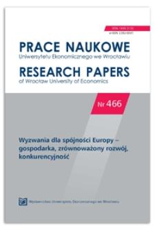 Spis treści [Prace Naukowe Uniwersytetu Ekonomicznego we Wrocławiu = Research Papers of Wrocław University of Economics, 2017, Nr 466]