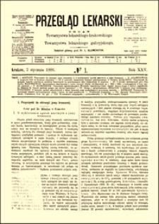 O wykluczeniu ognisk martwych z jamy brzusznej : przyczynki do chirurgii jamy brzusznej, Przegląd Lekarski, 1886, R. 25, nr 1, s. 1-3