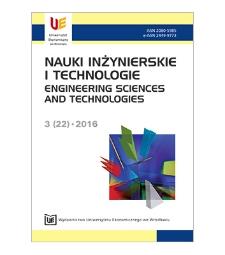 Spis treści [Nauki Inżynierskie i Technologie = Engineering Sciences and Technologies, 2016, Nr 3 (22)]