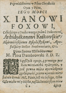 Rozsądek abo obwieszczenie przypadków z przyrodzonych przyczyn idących z nieba i obrotów jego na rok 1622