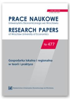 Spis treści [Prace Naukowe Uniwersytetu Ekonomicznego we Wrocławiu = Research Papers of Wrocław University of Economics; 2017; Nr 477]