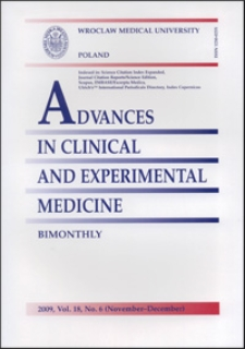 Advances in Clinical and Experimental Medicine, Vol. 18, 2009, nr 6