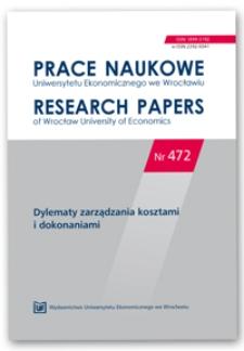 Koszty implementacji jako bariera innowacji produktowych w świetle strategii dyferencjacji – studium przypadku