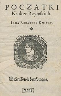 Poczatki Krolow Rzymskich Iana Achacego Kmithy