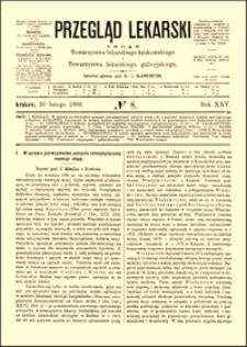 W sprawie pierwszeństwa pomysłu osteoplastycznej resekcyi stopy, Przegląd Lekarski, 1886, R. 25, nr 8, s. 109-111