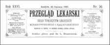 W sprawie techniki operacyjnej przy bocznej faryngotomii, Przegląd Lekarski, 1887, R. 26, nr 26, s. 351-352