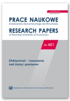 Spis treści [Prace Naukowe Uniwersytetu Ekonomicznego we Wrocławiu = Research Papers of Wrocław University of Economics; 2017; Nr 481]