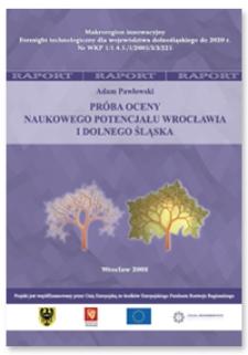 Próba oceny naukowego potencjału Wrocławia i Dolnego Śląska