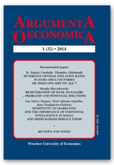 Spis treści [Argumenta Oeconomica, 2014, Nr 1 (32)]