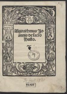Algorithmus Joannis de Sacro Busto