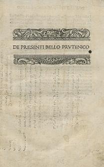 De Presenti Bello Prutenico