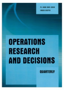 Editorial [Operations Research and Decisions, vol. 23, 2013, nr 4]