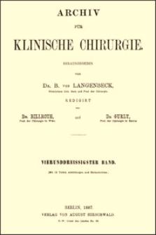 Zur operativen Behandlung des Empyems der Highmorshöhle, Archiv für Klinische Chirurgie, 1887, Bd. 34, S. 626-634