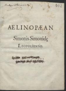 Aelinopaean Simonis Simonidae [...]