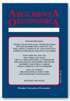Spis treści [Argumenta Oeconomica, 2002, Nr 1 (12)]