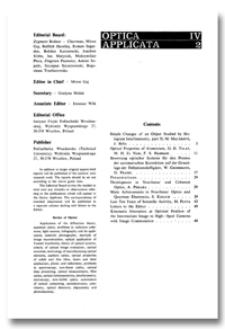 Bewertung optischer Systeme für den Prozess der automatischen Korrektion auf der Grundlage der Definitionshelligkeit