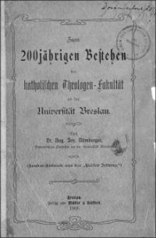 Zum 200jährigen Bestehen der katholischen Theologen-Fakultät an der Universität Breslau